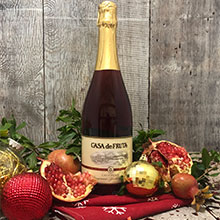 Pomegranate Sparkling Wine. casa de fruta fruit wine, champagne LARGE
