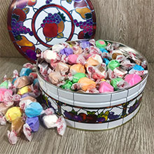 Assorted Salt Water Taffy 32 oz Tin LARGE