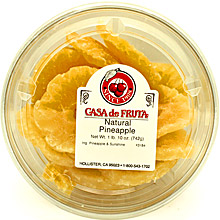 Pineapple Rings Natural (Low Sugar, No Sulphur) Tub 26 oz