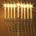 Greeting Card - Hanukkah Menorah