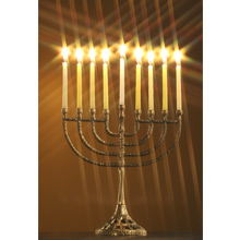 Greeting Card - Hanukkah Menorah_MAIN