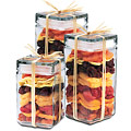 Fancy Fruit Mix Stackable Jar Set of 3 - 120 oz