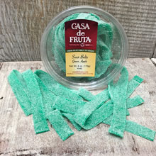 Green Apple Sour Belts Tub 6 oz LARGE