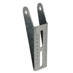 Vertical Bunk Bracket Lanced, 8-1/2''