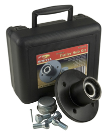 "Trailer Hub Kit 1"" Spindle, 4x4"" Tapped 1250 Lb Capacity"