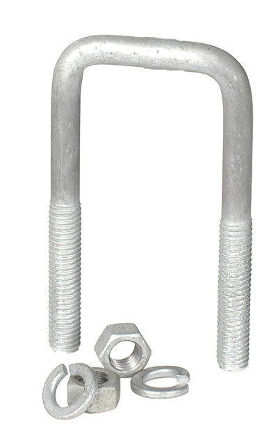 "Galvanized U-Bolt 1/2""-13 X 2-1/16"" X 6-1/2"" Square Bend"