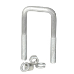 "Galvanized U-Bolt 1/2""-13 X 1-9/16"" X 4-1/16"" Square Bend THUMBNAIL"