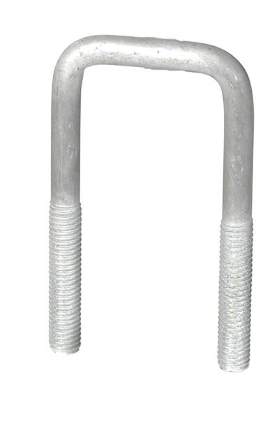 "Galvanized U-Bolt 1/2""-13 X 2-1/16"" X 4-1/2"" Square Bend MAIN"