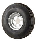 "4.80/4.00-8 Bias Tire With 8"" Galvanized Wheel THUMBNAIL"