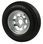 "St225/75r15 Radial Tire With 15"" Galvanized Wheel"