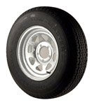 "St205/75r14 Radial Tire With 14"" Galvanized Wheel"