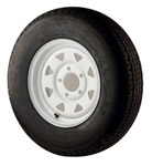 "St175/80r13 Radial Tire With 13"" White Wheel"