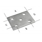 "Axle Tie Plate - Formed 3-5/8"" U-Bolt"