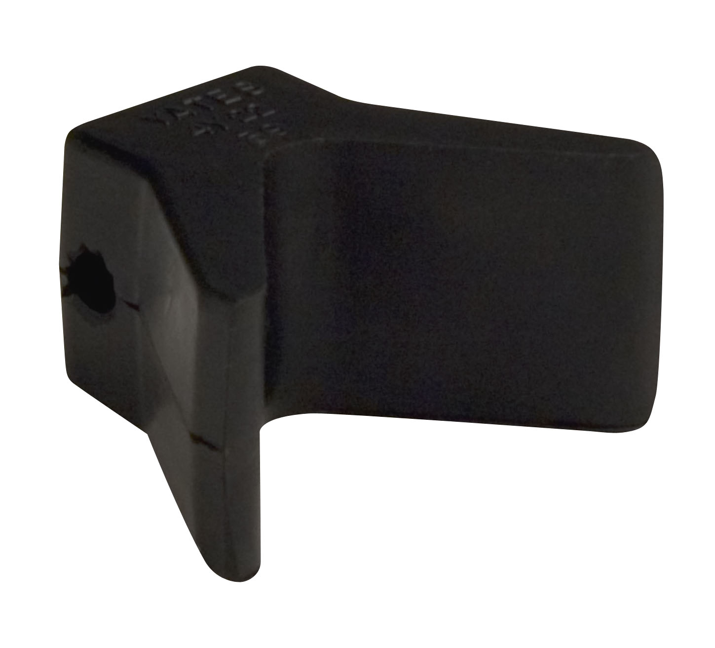 "2""X2"" Bow Y Stop Black Natural Rubber"
