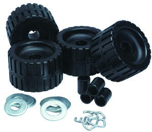 Ribbed Roller Kit Black Natural Rubber