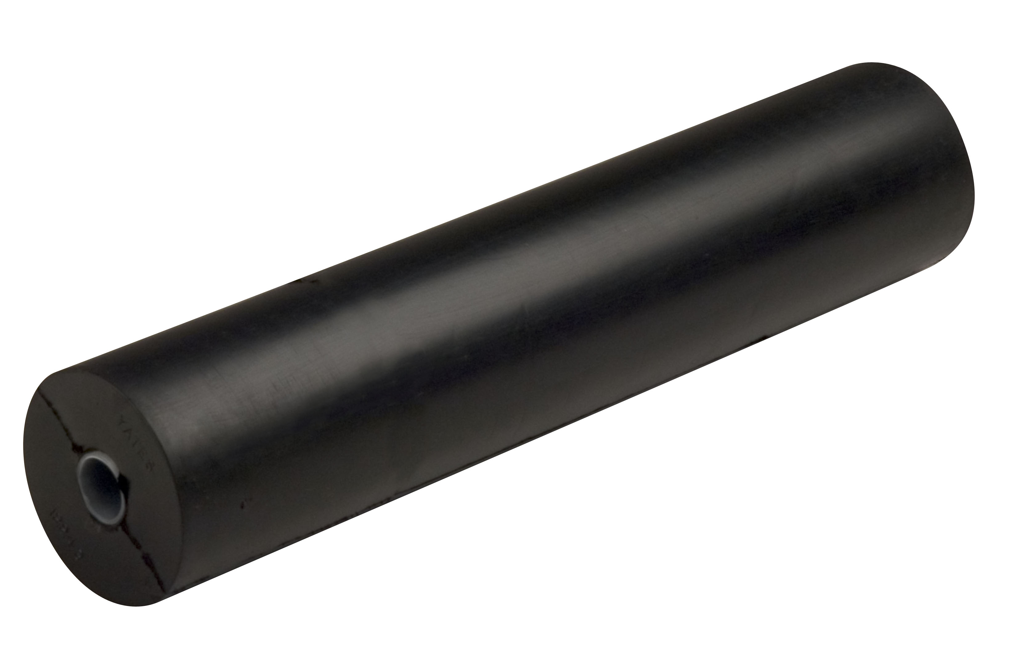 "12"" Side Guide Roller Black Natural Rubber, 5/8"" Shaft"