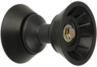 "3"" Bow Bell Roller Assembly Black TPR"