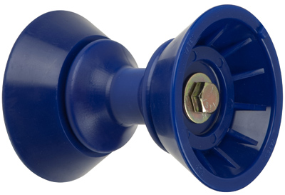 "3"" Bow Bell Roller Assembly Blue TPR MAIN"