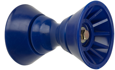 "4"" Bow Bell Roller Assembly Blue TPR_MAIN"