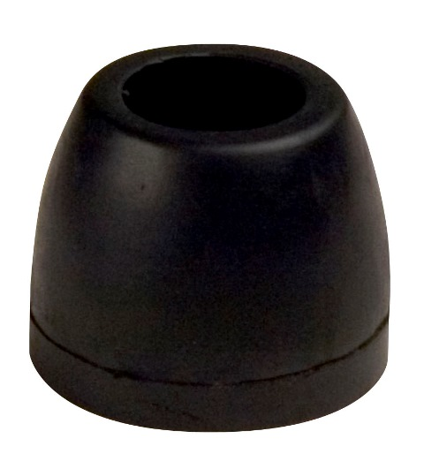 "2-1/2"" Side Guide Roller End Guard Black Natural Rubber, 1/2"" Shaft"