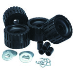 Ribbed Roller Kit Black Natural Rubber THUMBNAIL
