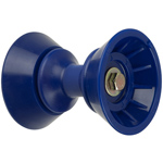 "3"" Bow Bell Roller Assembly Blue TPR THUMBNAIL"
