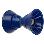 "4"" Bow Bell Roller Assembly Blue TPR THUMBNAIL"