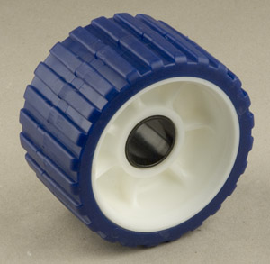 "Ribbed Roller Blue Tpr, 1-1/8"" Shaft Tidewater Trailers"