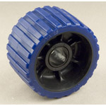"Ribbed Roller Blue Tpr, 1-1/8"" Shaft 5 Starr & American Trailers THUMBNAIL"