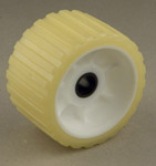 "Ribbed Roller Yellow Tpr, 3/4"" Shaft Yacht Club Trailers THUMBNAIL"