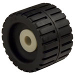 "Small Ribbed Roller Black Natural Rubber, 5/8"" Shaft"