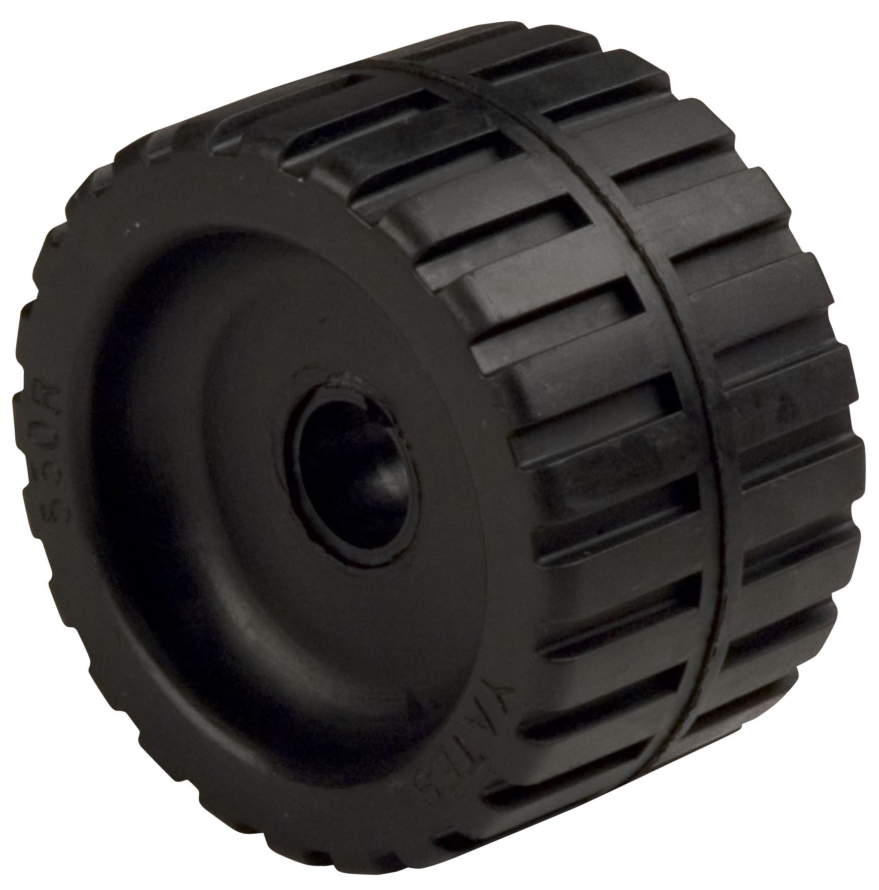 "Ribbed Roller Black Natural Rubber, 7/8"" Shaft_MAIN"