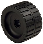 "Ribbed Roller Black Natural Rubber, 7/8"" Shaft"