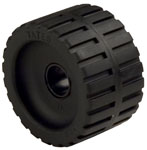 "Ribbed Roller Black Natural Rubber, 1-1/8"" Shaft"