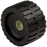 "Ribbed Roller Black Natural Rubber, 1"" Shaft"