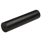 "12"" Side Guide Roller Black Natural Rubber, 5/8"" Shaft_THUMBNAIL"