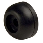 "2-1/2"" Keel Roller End Guard Black Natural Rubber"