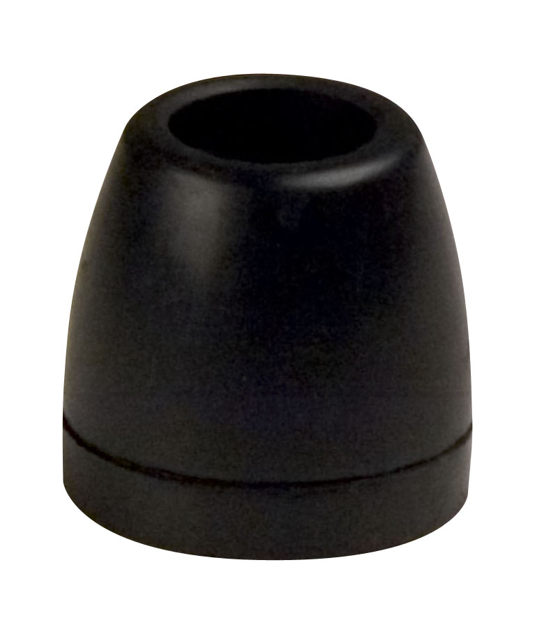 "2"" Side Guide Roller End Caps Black Natural Rubber MAIN"