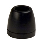 "2"" Side Guide Roller End Caps Black Natural Rubber"