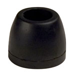 "2-1/2"" Side Guide Roller End Guard Black Natural Rubber, 5/8"" Shaft"