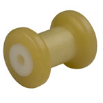 "4"" Spool Roller Yellow TPR, 1/2"" Shaft"