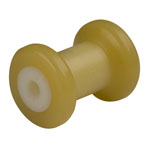 "4"" Spool Roller Yellow TPR, 5/8"" Shaft"