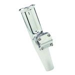"Adjustable Clamp-On Rod Holder - 316L Stainless Fits 3/4"" Pipe_THUMBNAIL"