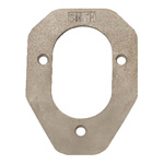 Stainless Steel Backing Plate For 80 Series Rod Holders