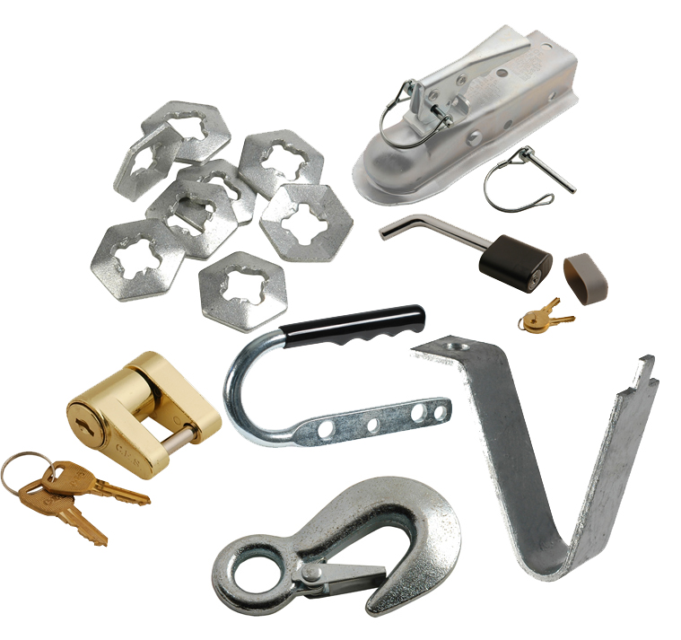 Trailer Accessories, U-bolts, Stainless steel, Zinc, Galvanized