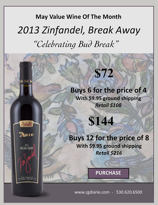 2018 May Value Wine of the month 2013 Zinfandel Break Away