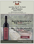 2018 JUNE Value Wine of the month 2013 Primitivo Estate Grown