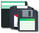 Floppy Disc an Zip Disc