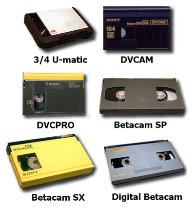 Professional Broadcast Tapes Converted to Multiple Formats