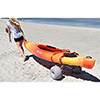 Malone Clipper Deluxe Kayak Cart (with Balloon Beach Wheels) SWATCH